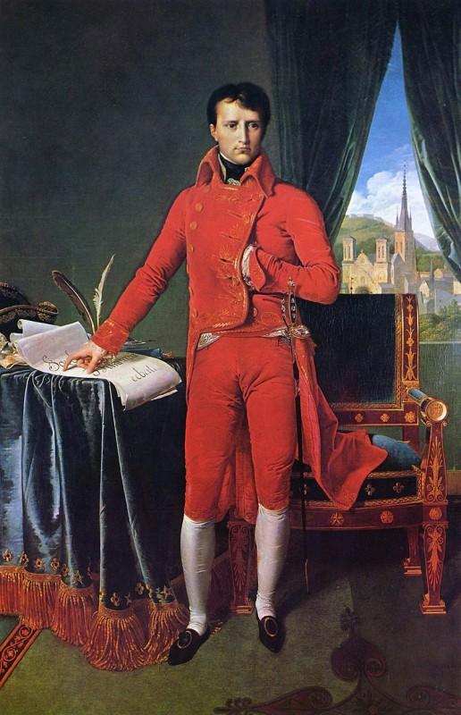 """Наполеон Бонапарт - первый консул"", Жан Огююст Доминиик Энгр, 1804."