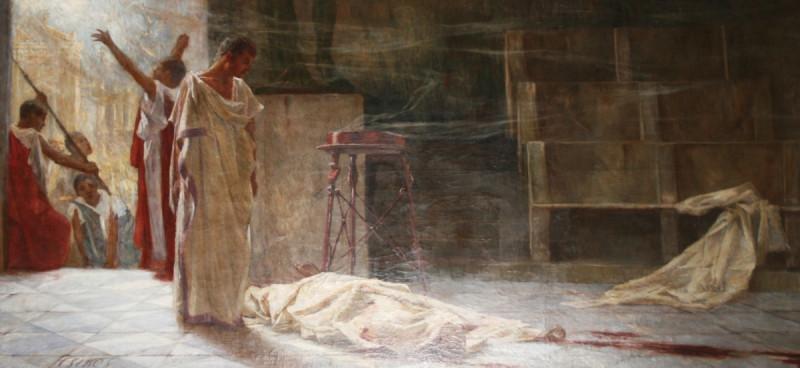 Марк Антоний над телом Цезаря. Бела Чикош-Сесия, ок. 1920.