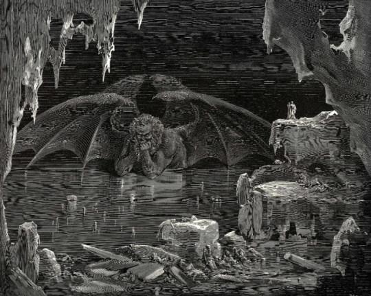 9 круг ада, где, согласно Данте, томятся предатели, и в их числе - Марк Брут и Гай Кассий.