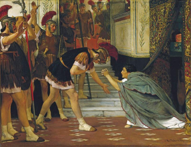 Провозглашение Клавдия императором, Лоуренс Альма-Тадема, 1867.