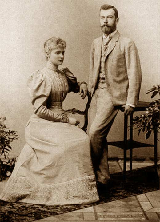 Николай и Алиса вскоре после помолвки.