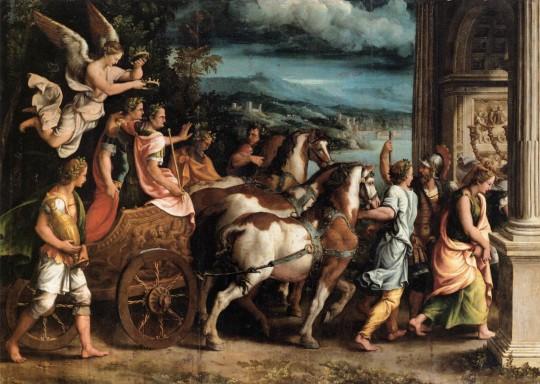 Триумф Тита и Веспасиана, Джулио Романо, ок. 1537