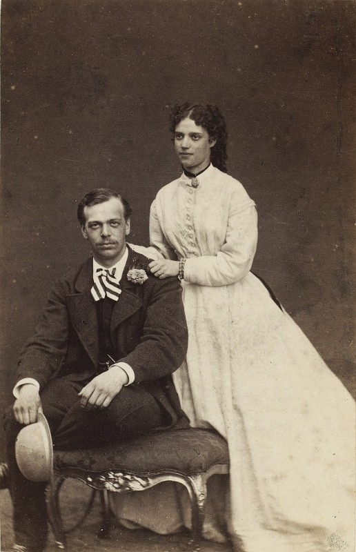 Цесаревич Саша (Александр) с женой.