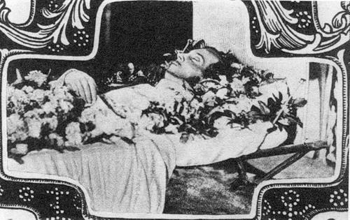Посмертная фотография Николая Александровича.