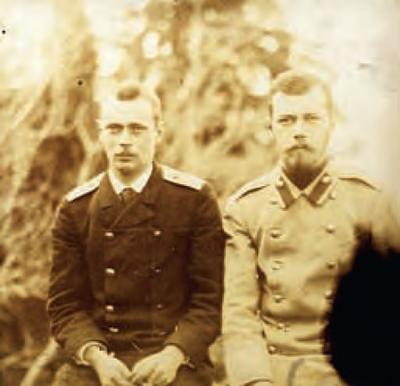 Георгий с братом николаем в 1899 году.
