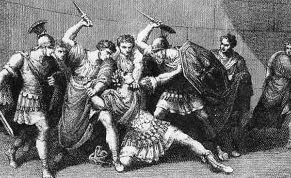 Убийство Калигулы. Гравюра Г. Мокетти.