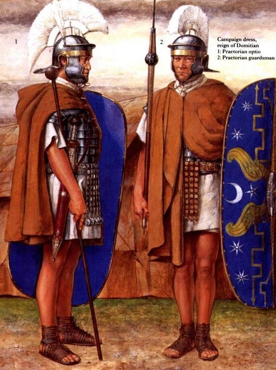Полевая форма преторианцев в правление Домициана.