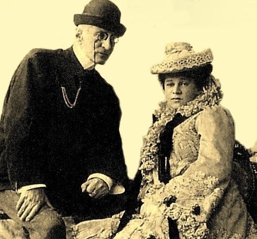 С женой Надеждой Дрейер.