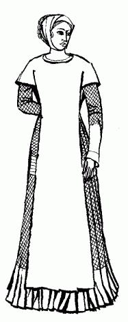 """Нарамник. Иллюстрация из книги """"Нариси з історії костюмів"""" К. К. Стамерова."""