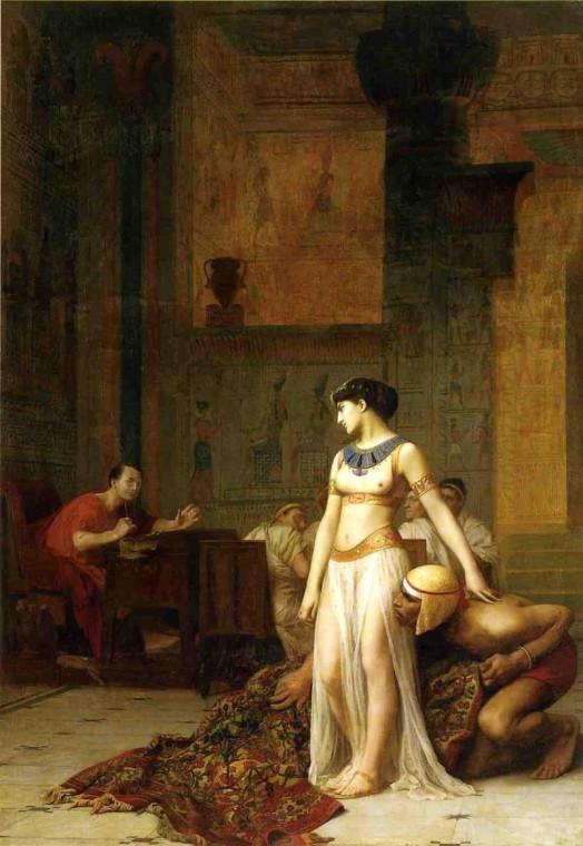 Клеопатра и Цезарь. Жан-Леон Жером, 1866.