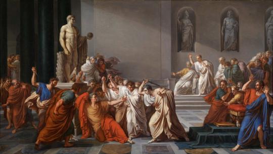 Смерть Цезаря. Винченцо Камуччини.