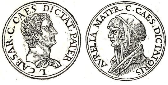 Отец и мать Гая. Изображения из сборника Promptuarii Iconum Insigniorum (1553).