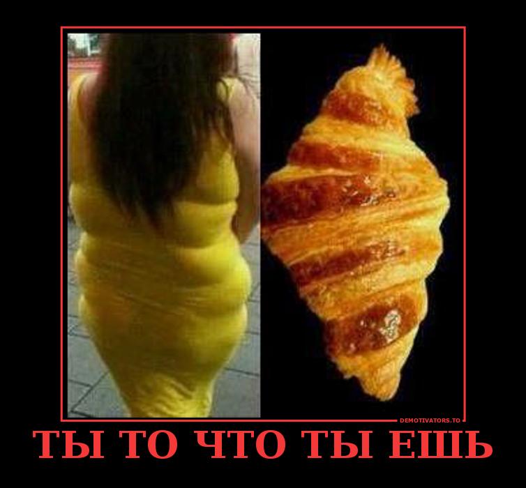 Демотиваторы про жирных и еду