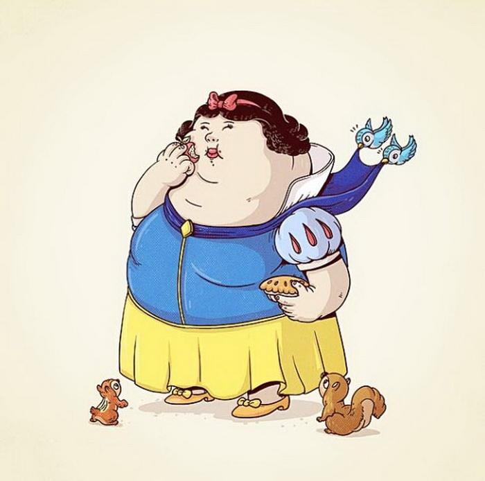 толстые персонажи мультфильмов женщины фото
