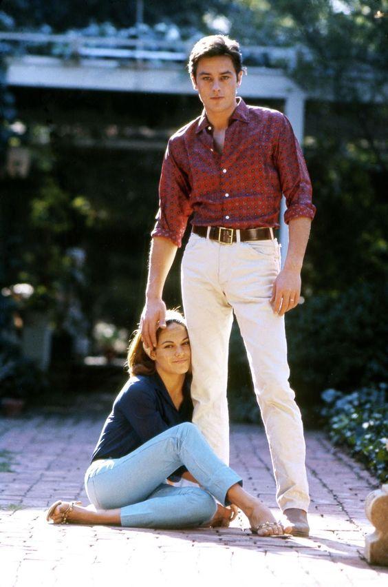 Ален Делон со своей единственной официальной женой Натали