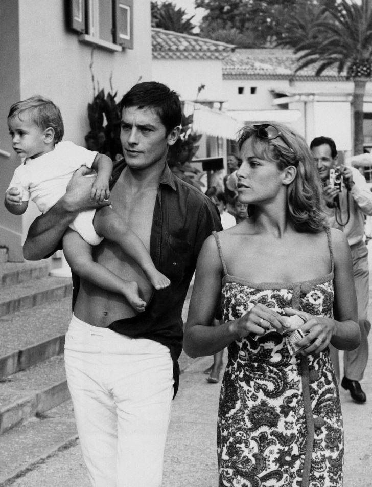 Ален Делон и Натали Делон с сыном Энтони
