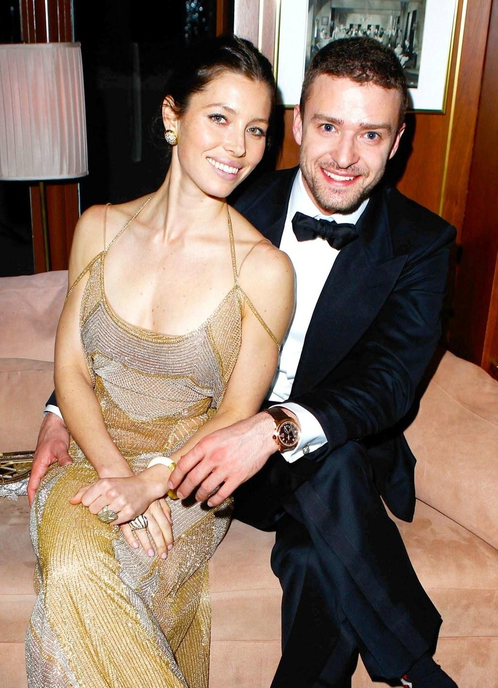 Джастин Тимберлейк и его жена актриса Джессика Бил