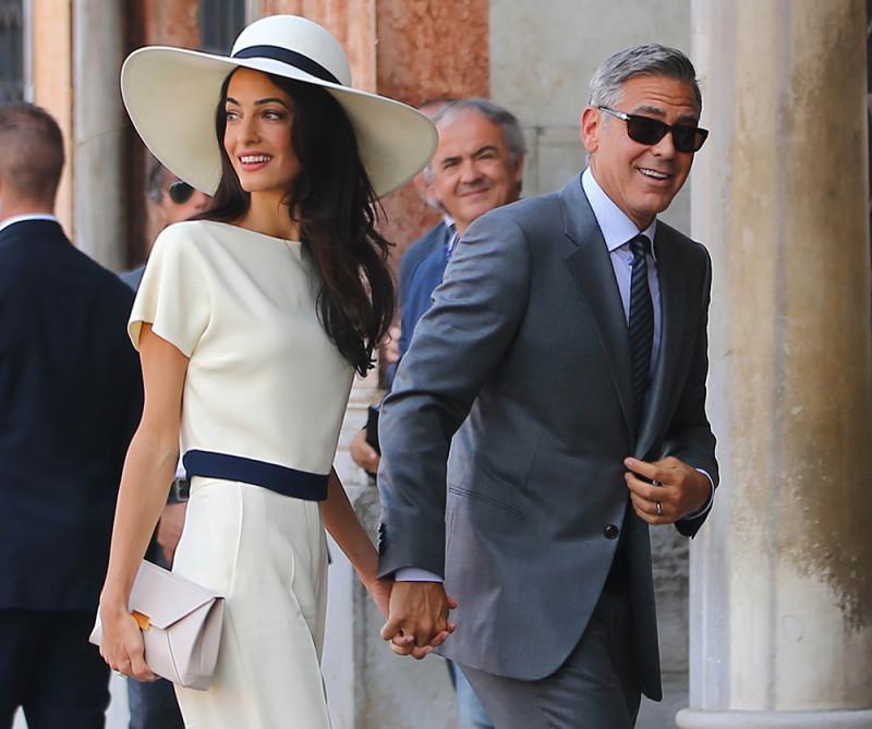 Джордж Клуни со своей женой Амаль