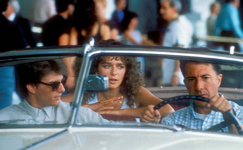 """Кадр из фильма """"Человек дождя"""". 1988г."""