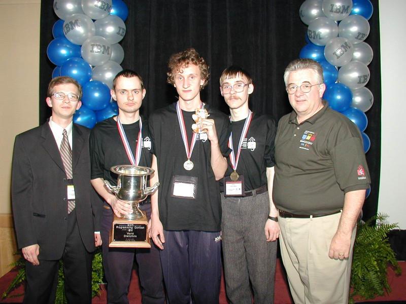 Чемпионы мира по программированию, город Ванкувер (Канада), 2001. Николай Дуров второй слева