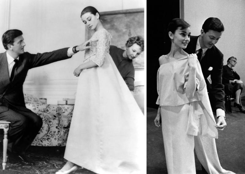 Одри Хепберн на примерках у модельера Юбера Живанши