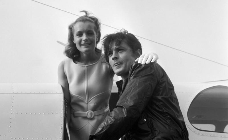Ален Делон и его первая серьезная любовь - актриса Роми Шнайдер