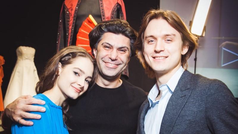 Слева направо: Севенард, Цискаридзе, Родькин