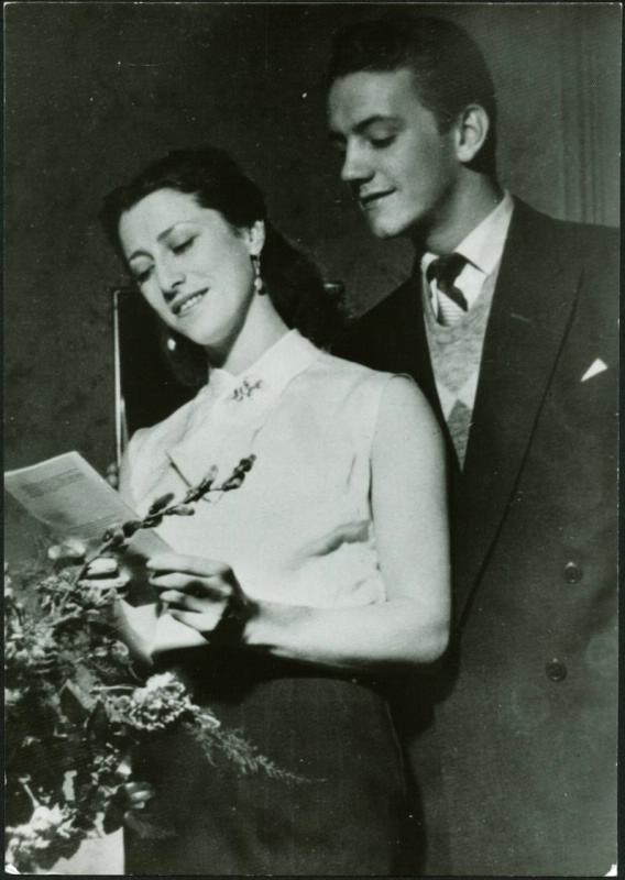 Марис Лиепа со своей первой женой  - балериной Майей Плисецкой