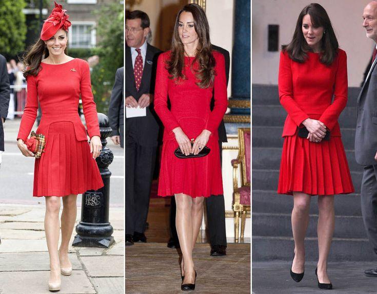 Три разных выхода Кейт в одном и том же платье