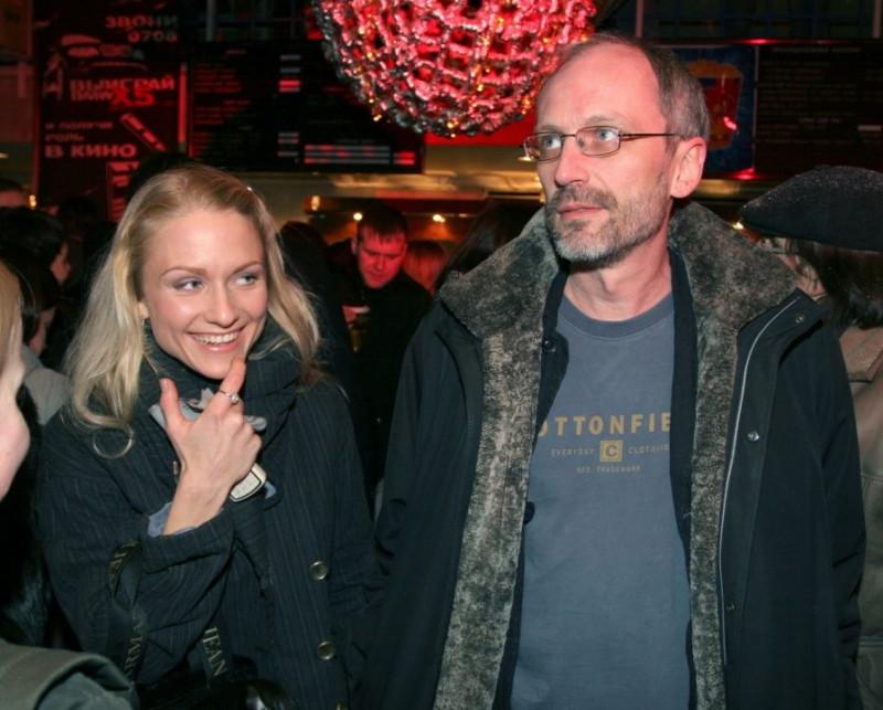 Катя со своим первым мужем, телеведущим Александром Гордоном