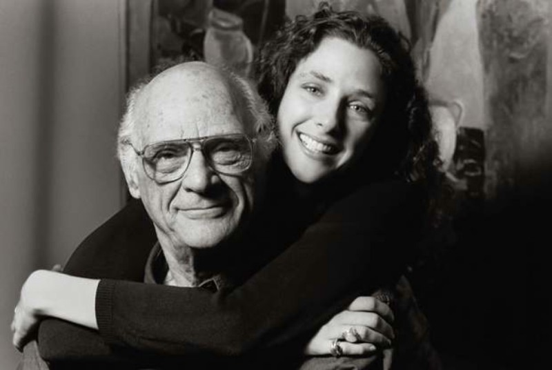 Артур Миллер с дочерью Ребеккой