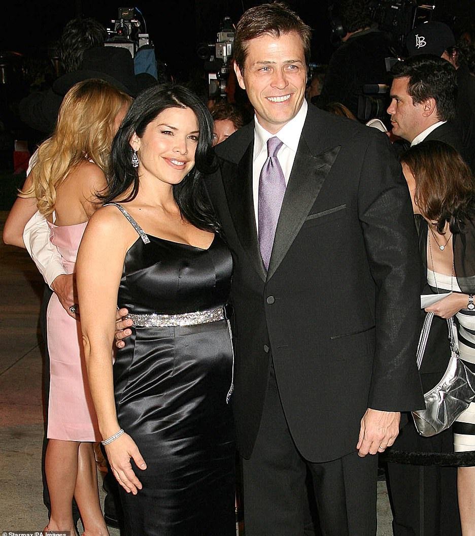 Беременная Лорен Санчес с бывшим мужем, Патриком Уайтселлом
