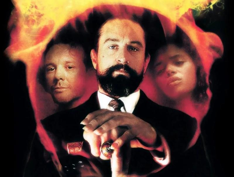 Дьявол Роберта де Ниро в центре, слева Микки Рурк