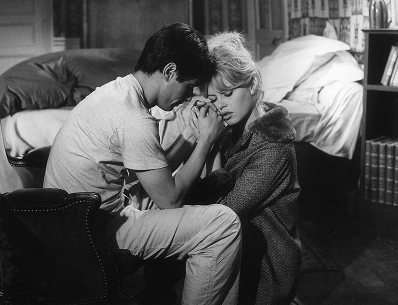 """ББ и Сами Фрей, кадр из фильма """"Истина"""", 1960г."""