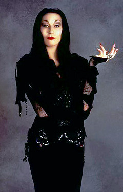 queens of halloween morticia addams angelica houston missd615. Black Bedroom Furniture Sets. Home Design Ideas