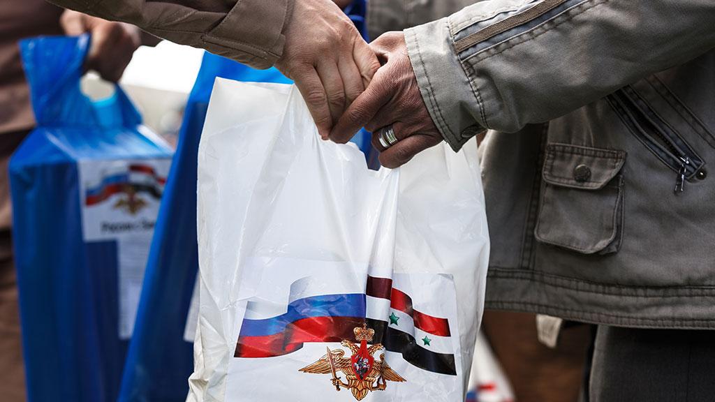Продукты и постельные принадлежности: Сирия получила гумпомощь от России