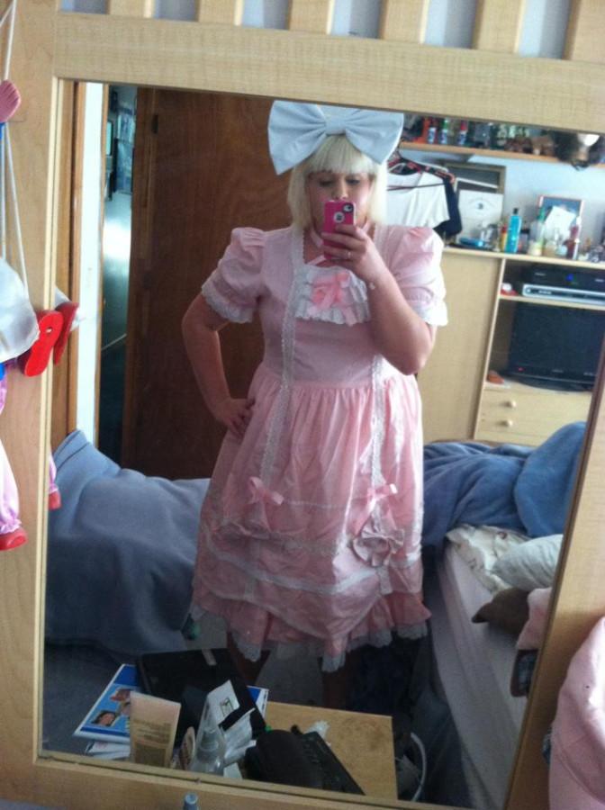 first pink dress