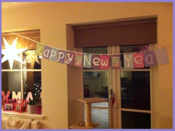 New Year´s banner