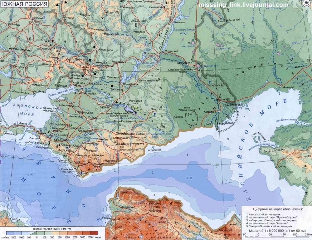 Карта чёрное море и каспийское море