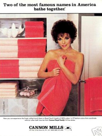 Joan Collins Cannon Mills 1984