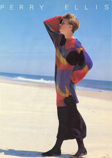 Perry-Ellis-Colourful-1980s-Sweater-on-Exshoesme.com