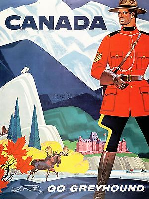 TRAVEL-TRANSPORT-BUS-COACH-MOUNTIE-MOOSE-GOAT-CANADA