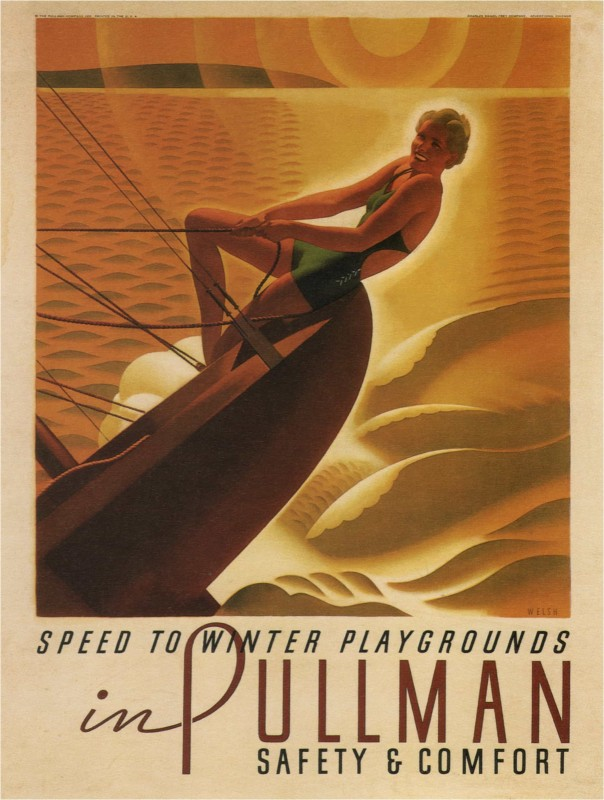 Speed-to-Winter-Playgrounds-in-Pullman-Safety-Vintage-Poster