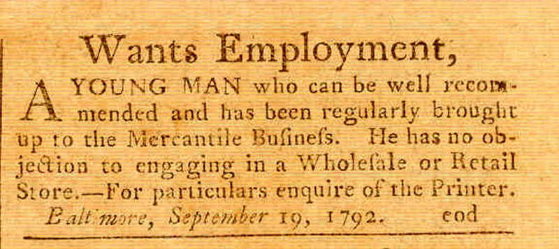 Employment-Wanted