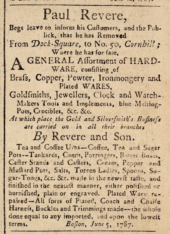Revere-Ad-1787