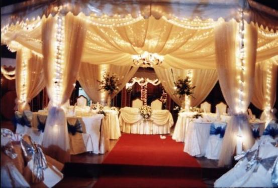 white stage