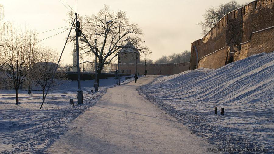 Зимний Кремлёвский парк