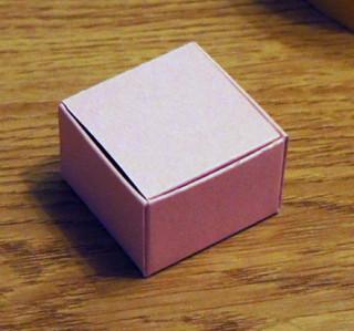 Коробочка квадратная из картона  схемы 2
