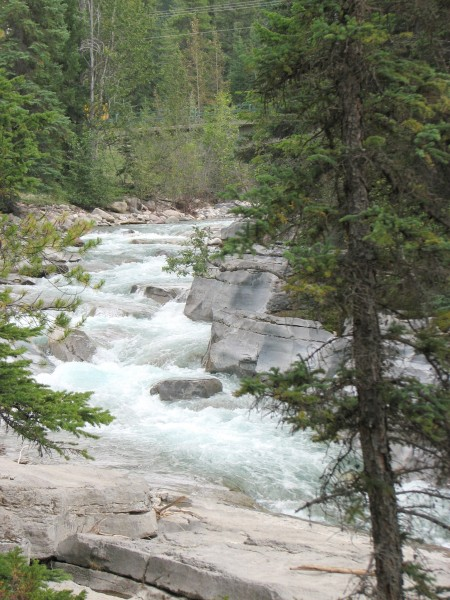 the Maligne before the canyon