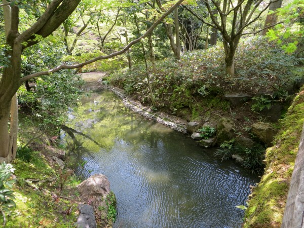 shady stream through Sento palace garden